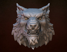 Wolf head game 3D printable model