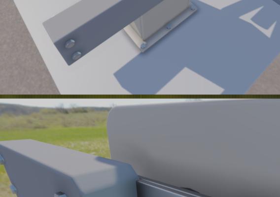 Modern Railway Barriers Set (WIP-1) Blender-2.91 Eevee