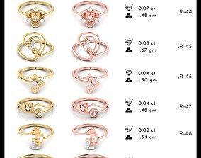 150 Light wt Women ring 3dm stl render detail 3D print 1