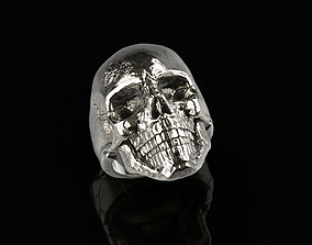 jewellery Skull ring 02 3D print model