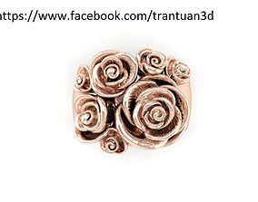 16 Rose ring 3D printable model