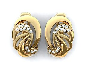 brilliants 3D printable model Earrings 18