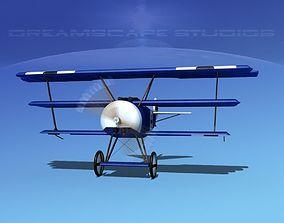 Fokker DR-1 Triplane V04 3D model
