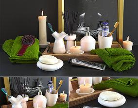 bath accessories set1 3D model
