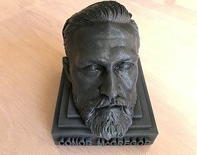 Conor McGregor head on simple base 3D print file