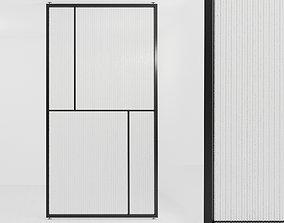 3D asset Glass partition door 69