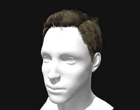 Male Pompadour Hairstyle 3D asset