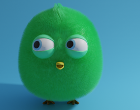 Chick 3D asset low-poly