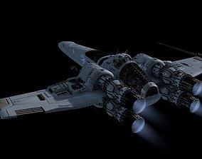 3D StarWars spaceship