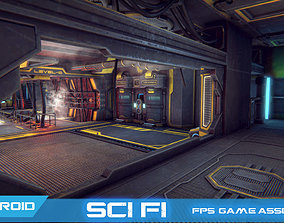 3D model FPS Survival Sci-Fi game assets v1