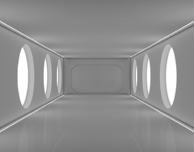 Sci Fi Corridor fantasy 3D asset realtime