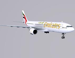 3D asset Airbus A 330-200 Emirates