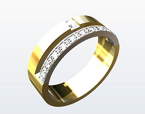 3D printable model rings