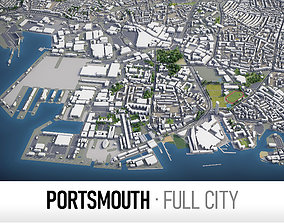 Portsmouth - city and surroundings 3D model
