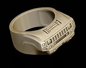 3D printable model car ring 24