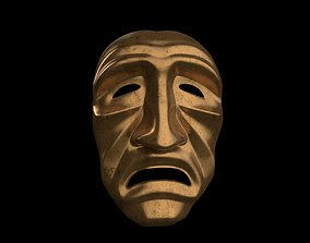 3D model Scare old man mask