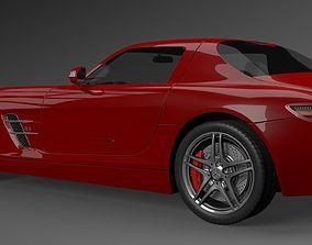 luxury mercedes sls amg 3D