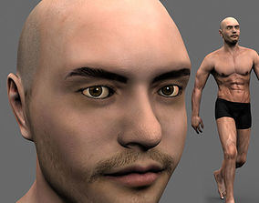 Athleticus - 3D animated man athlete model animated