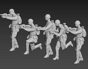 3D printable model machine German soldiers