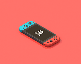 realtime Nintendo switch low-poly 3d model
