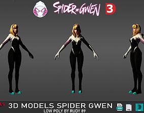 Spider Gwen Unmasked FF 3D asset
