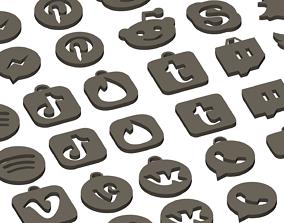 3D print model Social media and popular app logos 1