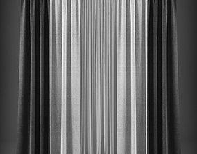 VR / AR ready Curtain 3D model 234