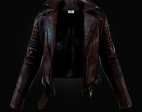 3D model clothing Leather Jacket
