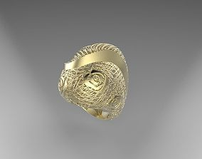 3D print model ring 10 cast