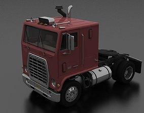 3D model game-ready W-9000 Semi Truck 1974