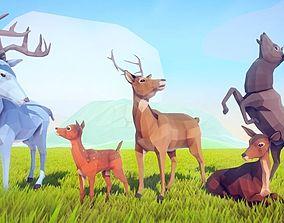 Poly Art Deer 3D