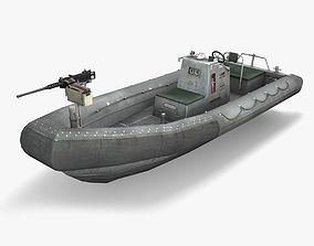 Rigid Hulled Inflatable Boat 3D asset