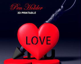 Heart Pen Holder 3D printable model