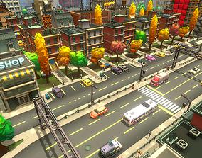3D asset Toon City