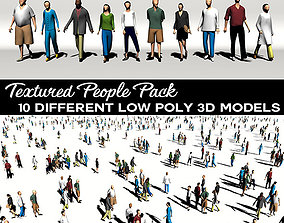 Low Poly People 3D asset VR / AR ready