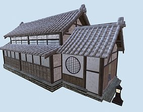 Japanese Dojo PBR 3D model game-ready