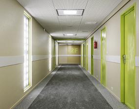 3D asset Underground Office Corridor