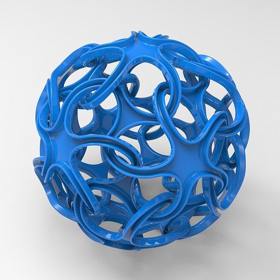 Abstract Ball 3D print model