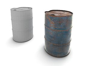3D model Rusty Barrel Metal
