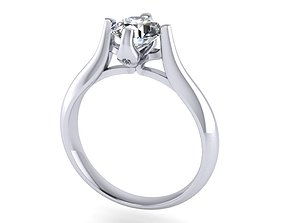 JEWELRY ENGAGEMENT RING STL FILE FOR 3D printable model 4