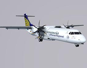 3D model ATR 72 Contact Air Lufthansa Regional