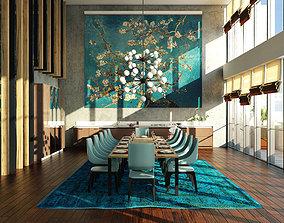 3D model Sketchup Dining Room