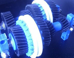 3D printable model four speed gearbox