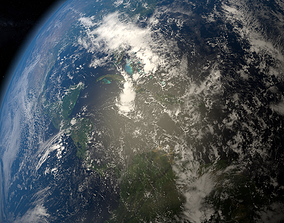 earth 3D model sky