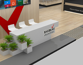 Exhibition Stand Booth 23x13m 3D model