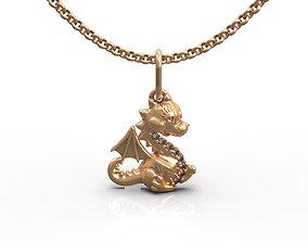 3D print model Dinosaur pendant
