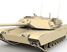 army Abrams Tank M1 3D model