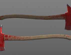 3D asset Bloody Fire Axe