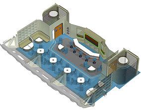 Starship Observation Lounge for Poser 3D model