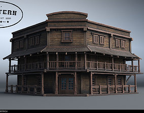 Western Village House 08 3D model